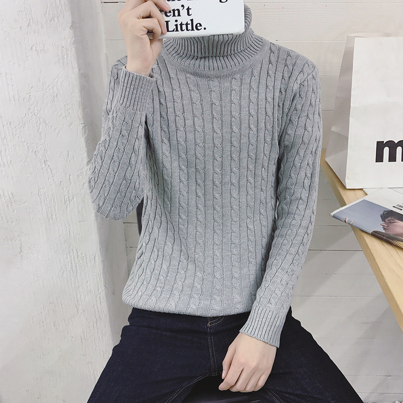 young students Korean men's sweater slim code winter turtleneck turtleneck sweater shirt sweater trend male students