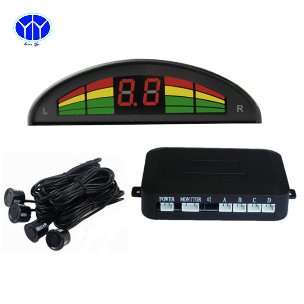 Car Auto Parking Sensor System Electromagnetic Kit LCD Display Radar Car-detector Reverse Parktronic Parking Sensor 4 sensors(China (Mainland))
