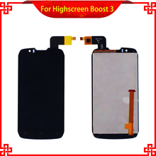 5PC/Lot LCD Display Touch Screen For Highscreen boost 3 DNS S4502 DNS-S4502 S4502M Mobile Phone LCDs Free Shipping