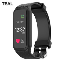 Buy TEAL L38I Bluetooth Smart Band Dynamic Heart Rate Monitor Full Color TFT-LCD Screen Smartband IOS Android Smartphone for $26.38 in AliExpress store