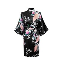 2015 Silk Kimono Robe Bathrobe Women Satin Robe Robe Longue Femme For Women Night Sexy Robes Night Grow For Bridesmaid Summer(China (Mainland))