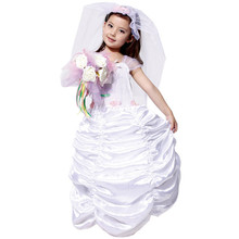 7 Sets/lot Free Shipping Halloween Carnival Cosplay Clothes Kids Girls Fancy Dress Costumes Children Bridal Gowns Princess Dress