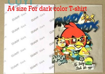 Inkjet dark color sublimation heat transfer paper for T-shirt 100pcs A4 size(China (Mainland))