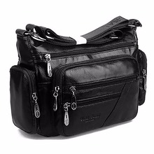 Buy Women Vintage Shoulder Bag First Layer Cowhide Messenger Bags Shopping Casual Brand Famous Genuine Leather Single CrossBody Bags for $36.03 in AliExpress store