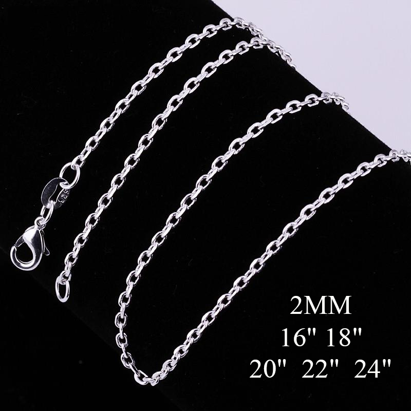 "(2MM/16""-24"") Wholesale Women Men Silver Snake Necklaces Chains Fashion Silver Plated Jewelry Pendants Neckalce Christmas Gifts(China (Mainland))"