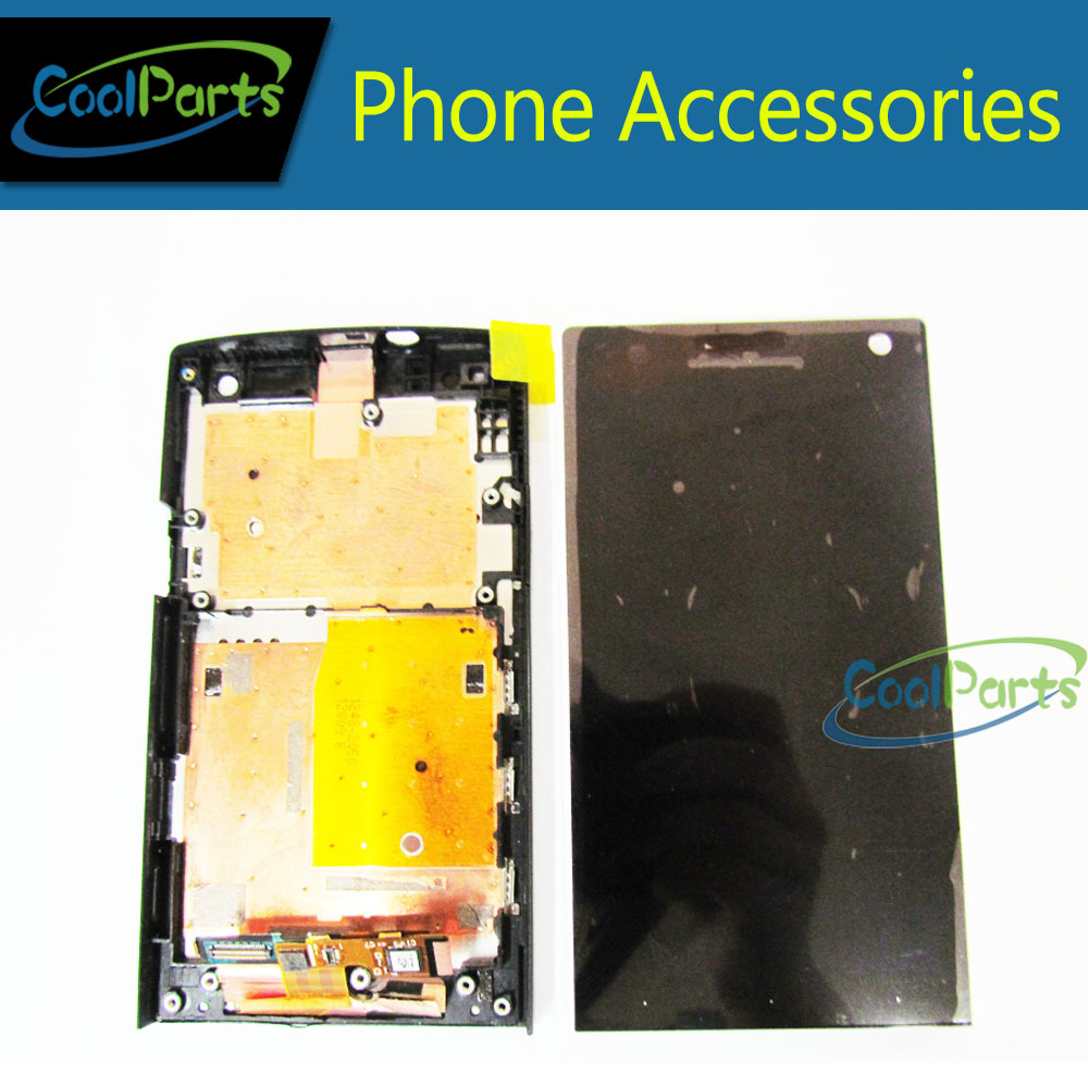 Full LCD Display and Touch Screen Digitizer Assembly With Frame For Sony Ericsson Xperia S LT26 LT26i  1PC/Lot Free Shipping