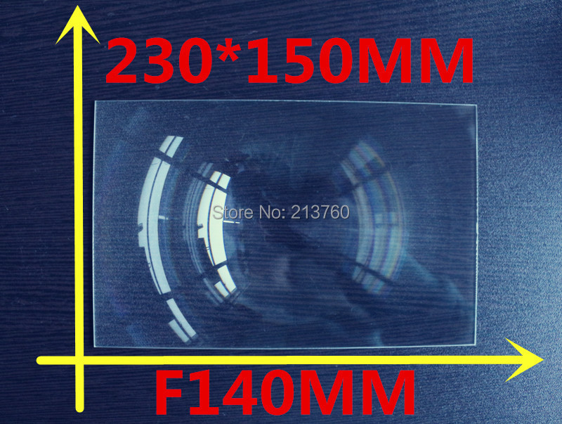8.9 Inch Mobile phone DIY projection Fresnel Lens rectangular  230*150MM  Focal length 140mm Thicknes 2MM Lines from 0.3mm