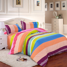 Summer style bedding set Full/Queen/King size bed set duvet cover set reactive printed bed linen flat sheet bedclothes.