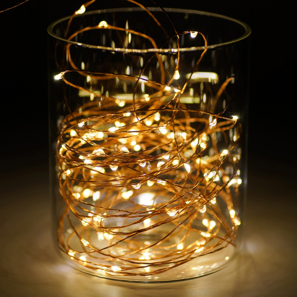 3M 10FT 30 LEDS AA Battery Operated string Copper Wire LED light 4.5V Waterproof LED String ...