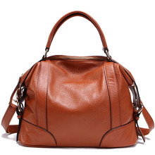 2016 Fashion first class of cowhide women's handbag, brand design genuine leather bag summer style dual function, popular tote(China (Mainland))