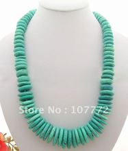 Charming! 10x26mm Green Turquoise Necklace+free shippment(China (Mainland))