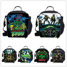 fashion teenage mutant ninja turtle printing lunch box for kids boys cartoon lancheiras infantis TMNT lunch bag picnic food bag(China (Mainland))