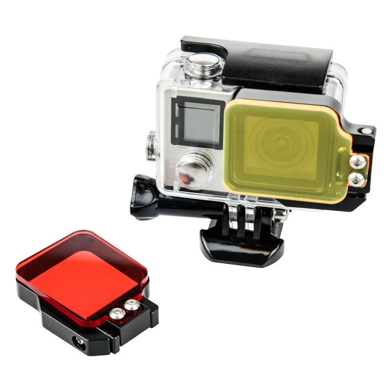 Go Pro Accessories Underwater Dive Sea Diving Water Color-Correction Camcorder Flip Filter Lens for Gopro Hero4s/4/3+3/2 Camera(China (Mainland))