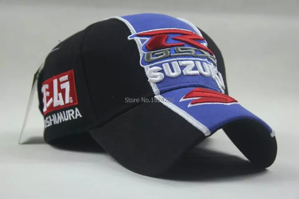 Free-shipping-Wholesale-New-Suzuki--Racing-Car-Team-Embroidery-Cotton-Sports-Baseball-Hat-Cap_new