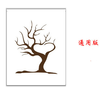 Fingerprint Tree Wedding Guest Book Fingerprint Canvas Painting Wedding Decoration Party 60x75CM 2016 Wedding Gifts Casamento