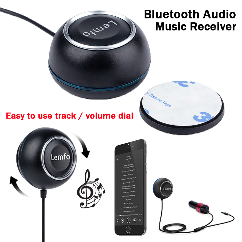 Bluetooth Audio Music Receiver Wireless Transmitter Plug Play A2DP Stereo Adapter for Car Laptop Phone PC PDA WIN XP 2015 New(China (Mainland))