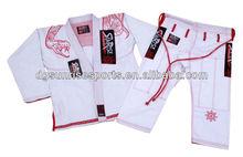 Free Shipping-New Sunrise Brazilian Jiu Jitsu Gi BJJ Gi 100% Preshrunk Cotton Fabric - White A1 to A4(China (Mainland))