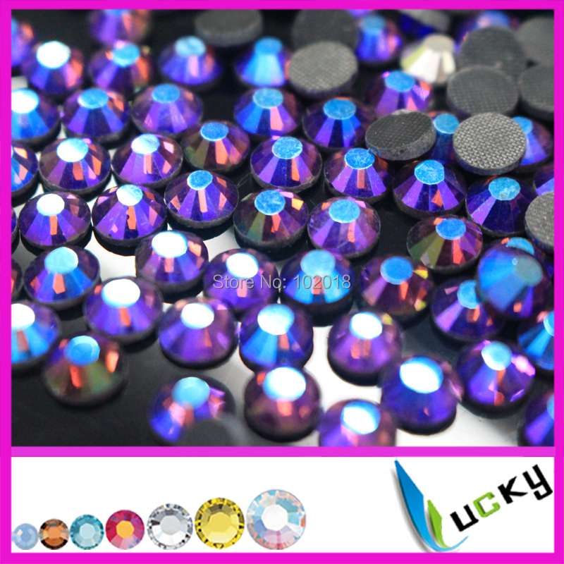 Free shipping 1440pcs 2014 new design 20ss iron on crystals Amethyst ab color hotfix rhinestones good water and heat test(China (Mainland))