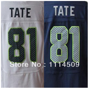 Free shipping Elite Stitched American Football Wholesale Seattle Club #81 Golden Tate Jerseys(China (Mainland))