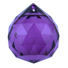 Dark Purple 10pcs 30mm Chandelier Crystal Glass Faceted Ball Crystal Healing Ball For Wedding Party Supply(China (Mainland))