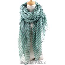 2015 высокое качество весна осень зима женщины полосой отпечатано шарфы большой размер большой платок обертывания пашмины шею теплые шарфы