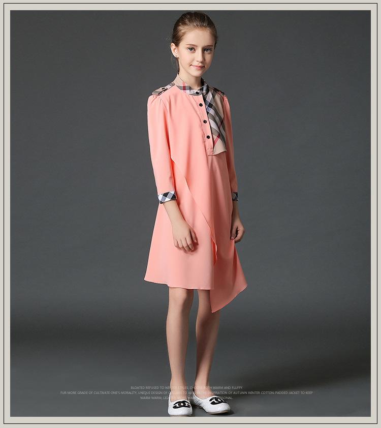 Скидки на Новая коллекция весна 2016 розовый платье детские платья a-line