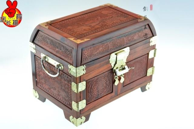 Rosewood jewelry box dressing mirror jewelry box mahogany furniture carved wooden box factory direct wedding gifts(China (Mainland))