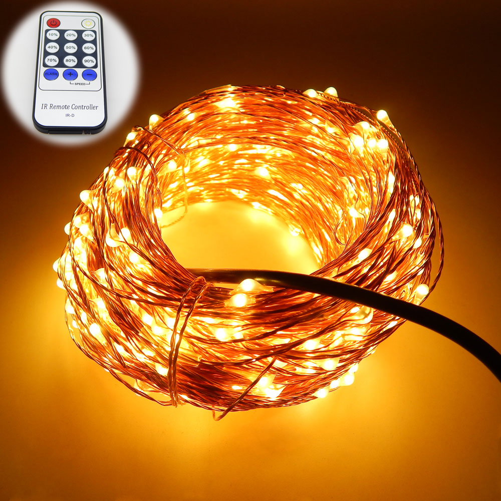 Aliexpress.com : Buy 99Ft/30m 300 Leds Copper Wire Warm White LED String Lights Starry Lights ...