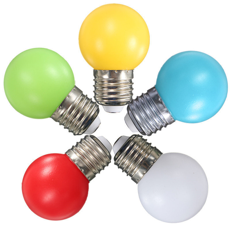 Newest Colorful LED Light Bulb E27 Energy Saving Light Globe Golf Ball Lamp 1W 2W 3W Home Decor Lighting AC 110-240V(China (Mainland))
