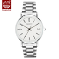 Fashion Watch Men Stainless Steel High Quality Brand Couple Watches Quartz White Dial Gift for Men