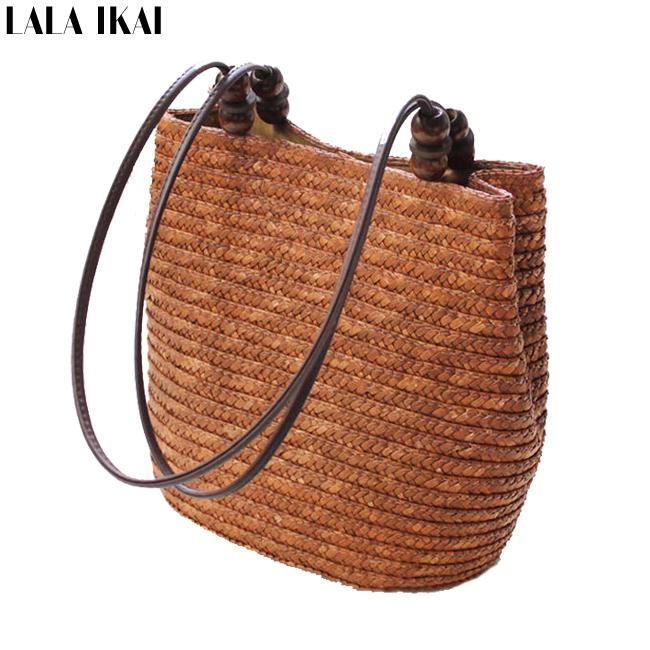 2015 New Vintage Womens Handbag Shopping Bag Vintage Ladies Bag Causal Bucket Tote Summer Straw Shoulder Bag BWA0200(China (Mainland))