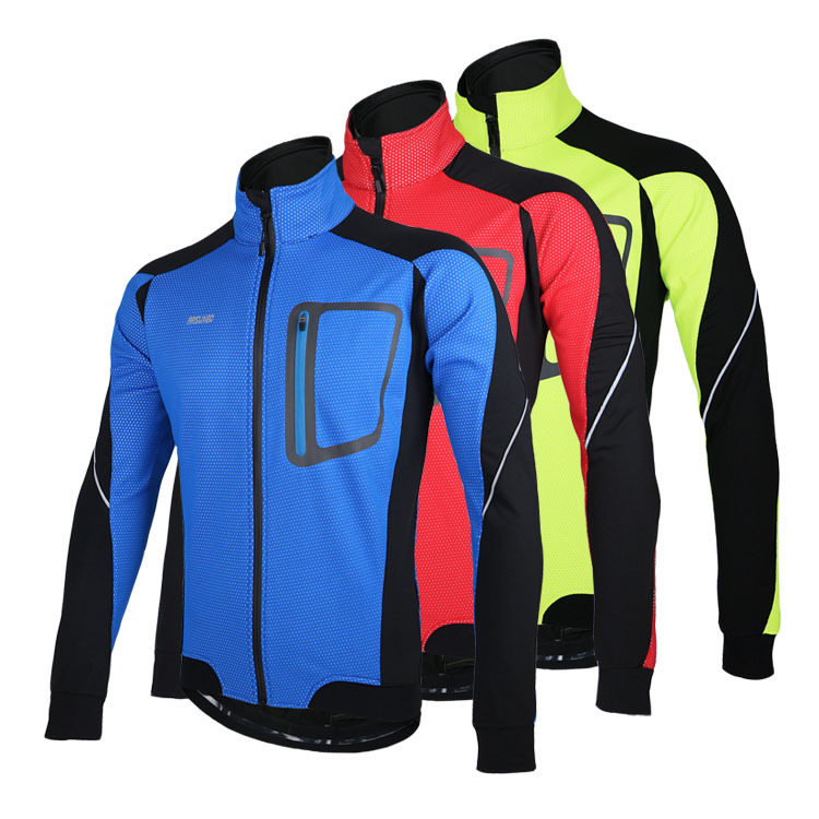 ARSUXEO 2015 Winter Warm Up Thermal Cycling Jacket Bike Bicycle Clothing Windproof Waterproof Jersey 14D<br><br>Aliexpress