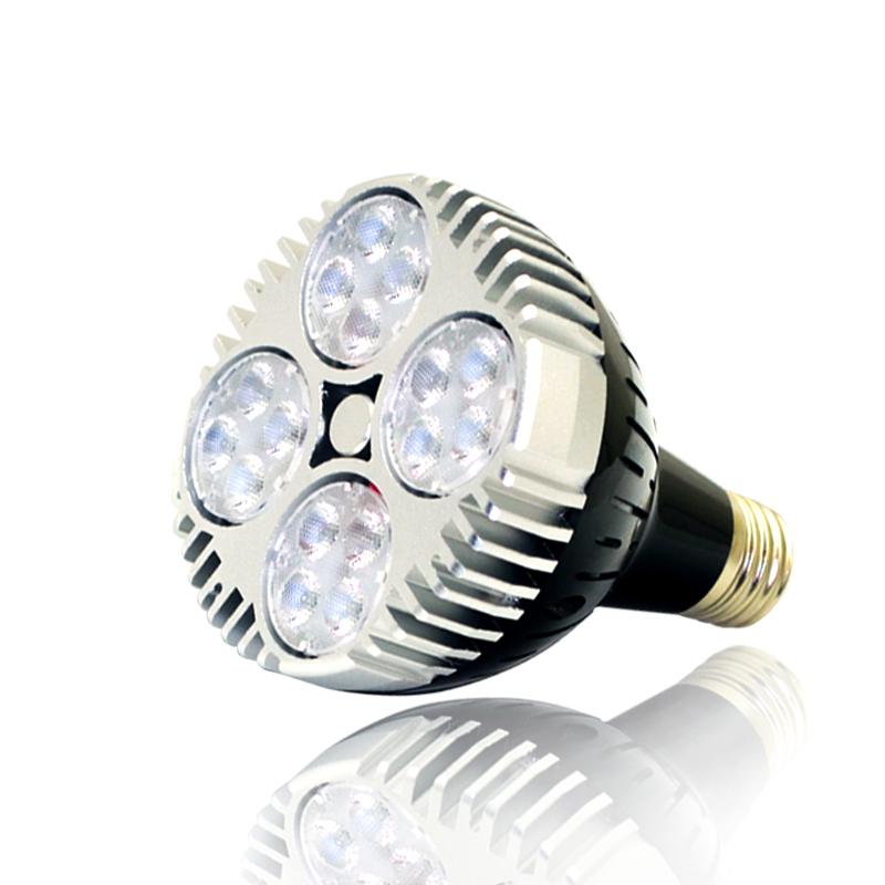 par30 45w led spot grow light bulb with fan for garden indoor plant. Black Bedroom Furniture Sets. Home Design Ideas