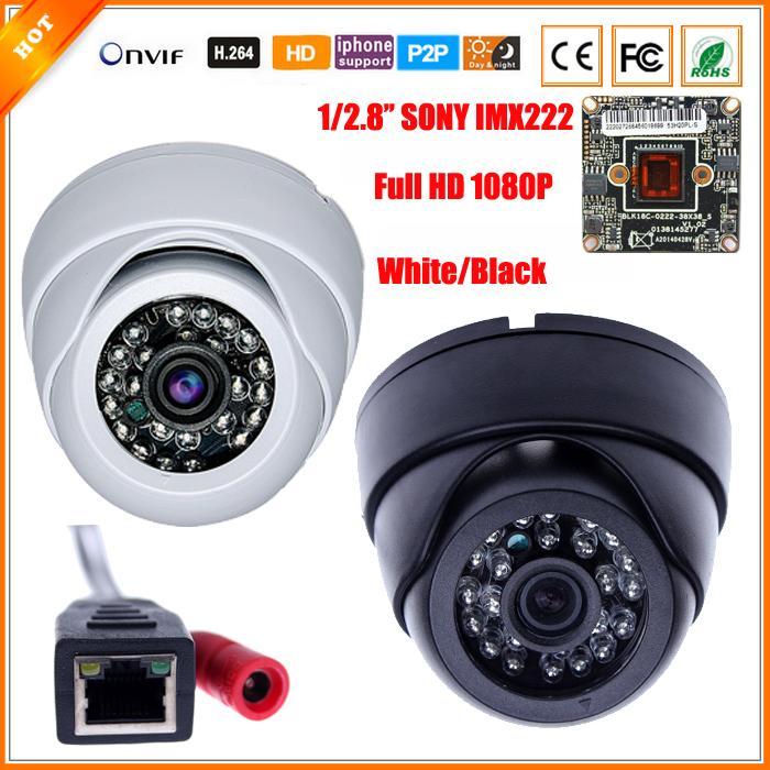 1/2.8'' SONY IMX222 Full-HD 1080P 2 Megapixel IP Camera IR Night Vision Indoor Dome Security CCTV Camera IR Cut Onvif XMEYE(China (Mainland))