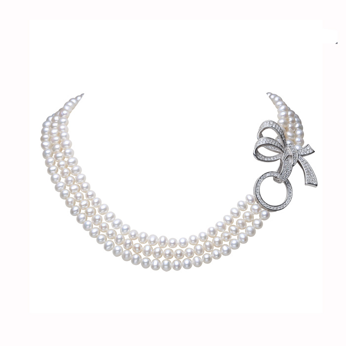 100% Genuine Pearl Necklace Natural Freshwater Pearl Jewelry Choker Necklace Women Statement Necklace Jewelry For Women Gift