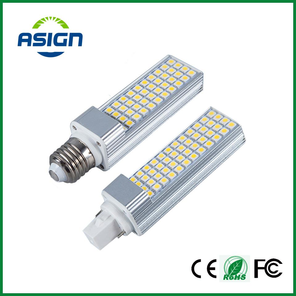 LED Bulbs 5W 7W 9W 11W 13W E27 G24 LED Corn Bulb Lamp Light SMD 5050 Spotlight 180 Degree AC85-265V Horizontal Plug Light(China (Mainland))