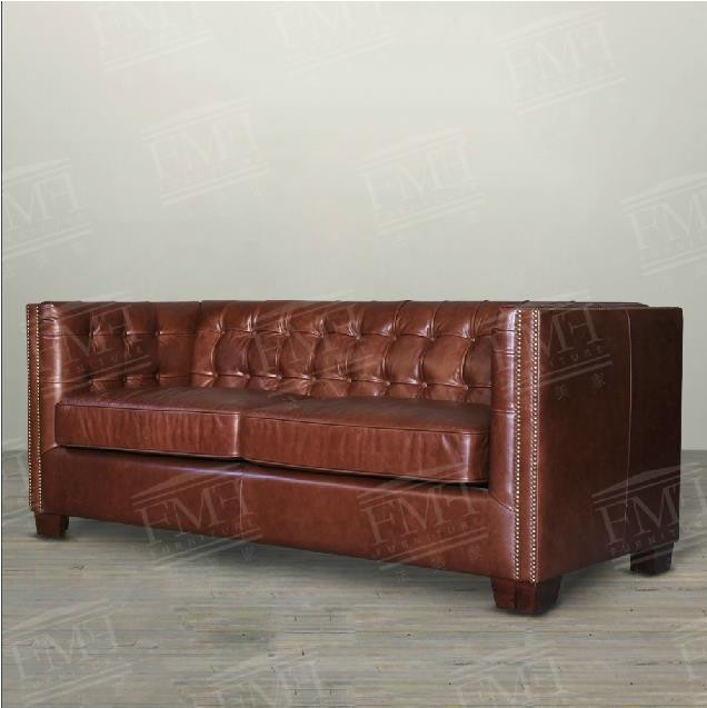 Luxury italian imported genuine leather furniture/contracted pull clasp sofa/living room single/two seat and three seat sofa 3(China (Mainland))