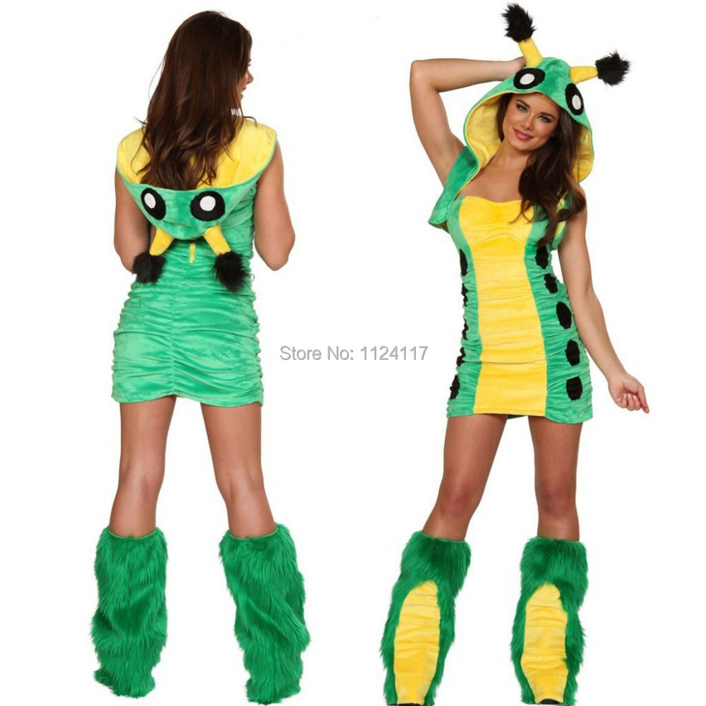 Adult Cute Caterpillar Christmas Costume Cosplay Sexy ...