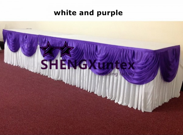 Purple top table swag-600x600
