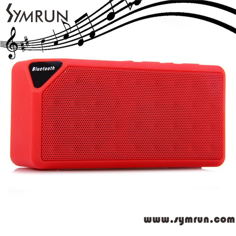 Symrun Mini Bluetooth Speaker X3 Jambox Style Tf Usb Fm Wireless mini bluetooth speaker x3 jambox style tf usb fm w(China (Mainland))
