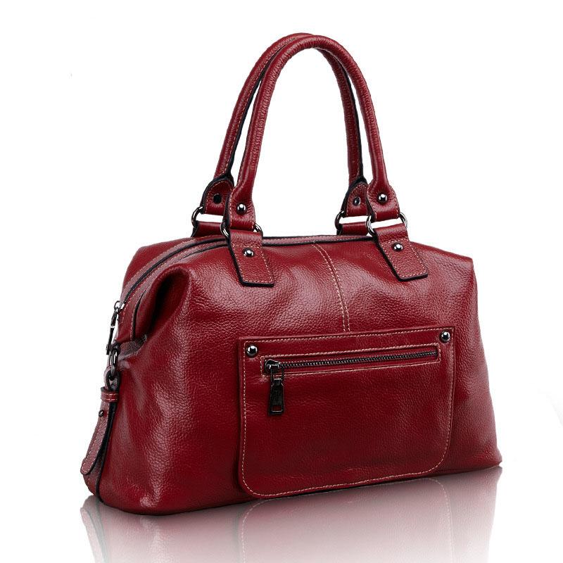 Фотография Genuine Leather Bag Women Messenger Bag Handbag Hobos Bag Designer Women Famous Brand Sac Femme Bolso Feminina RD-087