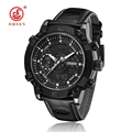 2016 NEW OHSEN Men Fashion Wristwatches Luxury Famous Brand Men s Leather Strap Watch Waterproof Sports