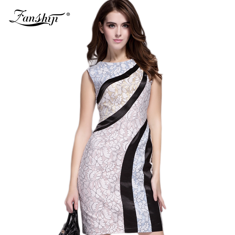 2015 New Style Women Summer Dress Plus Size Sexy Pencil Bodycon Dress Short Sleeve O-Neck Slim Fit Lace Vestidos XXLОдежда и ак�е��уары<br><br><br>Aliexpress