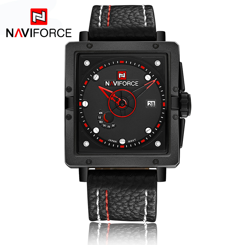 NAVIFORCE 2016 Men Watch PU Leather Bracelet Analog Quartz Wristwatch Waterproof Sport Army Military Male Clock Relojes Hombre(China (Mainland))