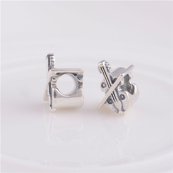 2014 Fashion Delicate Violin Charms 925 Sterling Silver Jewelry Charms 925 Fit European Style Bracelets Necklace (3)