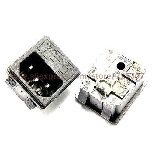 3pcs full copper ac power socket/ three core with fuse socket 15A 250V AC-02 free shipping(China (Mainland))