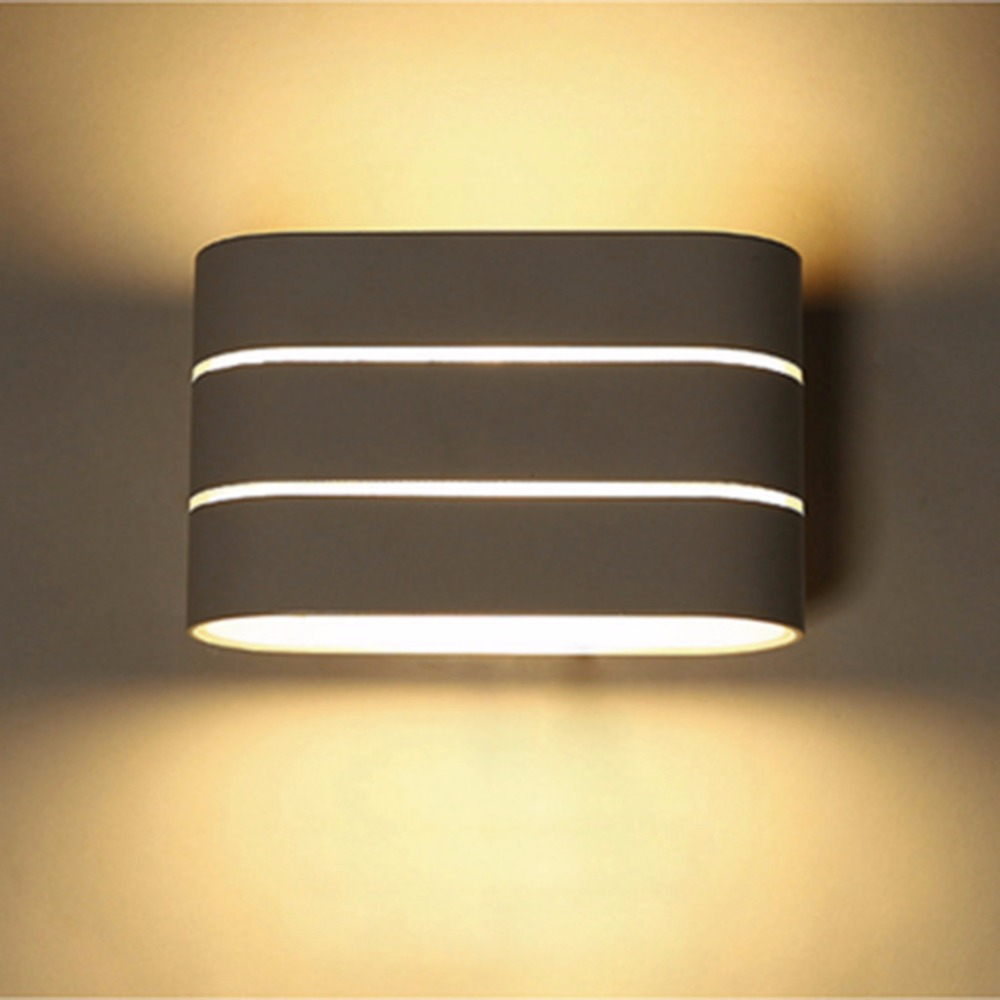 Excelvan 5W LED Bedside Lamp Wall Mount Hotel Lighting Up Down Wall Light Sconces Indoor Night light for Bedroom Living Room(China (Mainland))