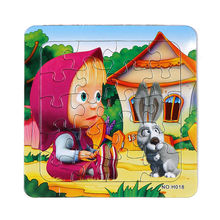 3D Paper jigsaw puzzles toys for children kids toys brinquedos Masha and Bear Princess educational Baby toys Puzles Puzzel 3D(China (Mainland))
