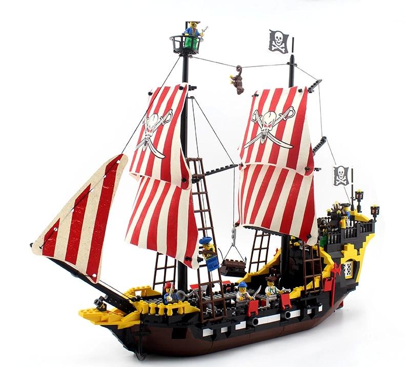 building block set compatible lego pirates Black Pearl battle ship 3D Construction Brick Educational Hobbies Toys Kids