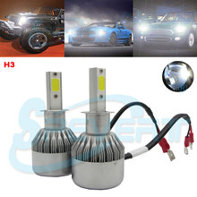 Buy SPEVERT Super Bright Car Headlights H3 LED 110W 20000LM 6000K White 12V Single Beam Auto Front Bulb Headlamp Bulb Fog Light for $34.97 in AliExpress store